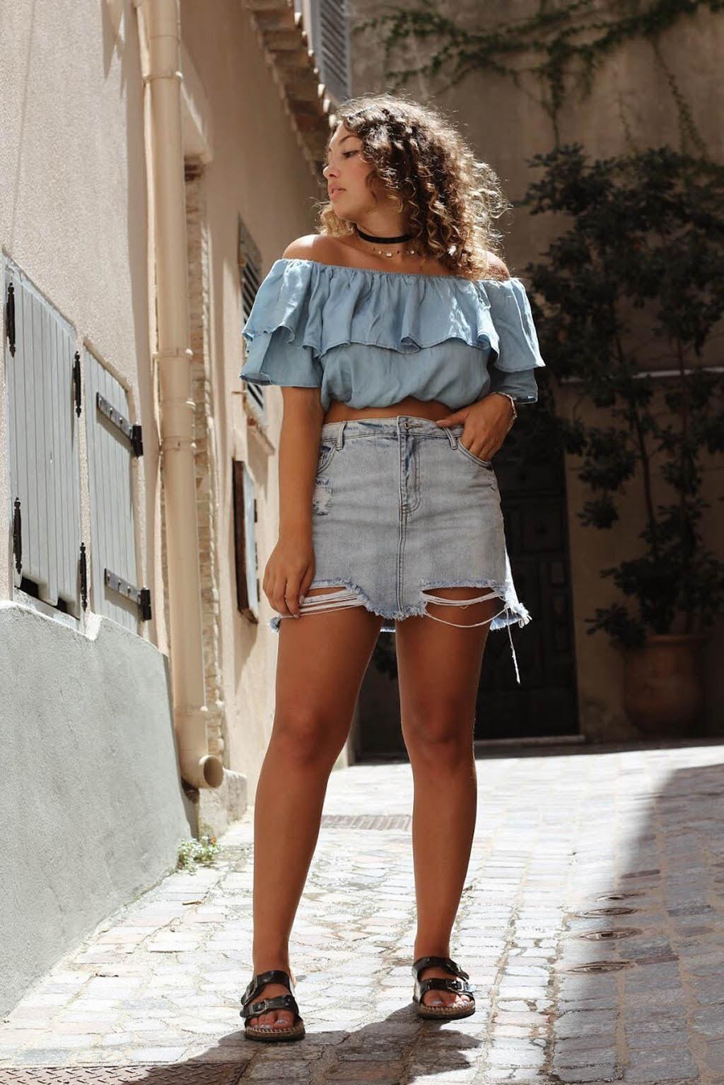 jupe, jeans, crop-top, blog, fashion, mode, style, tendance, summer
